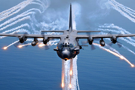 450px-AC-130H_Spectre_jettisons_flares